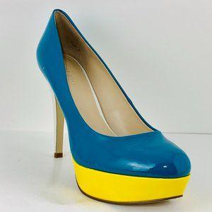 NINE WEST Color Blocked Platform Heels Size 8M